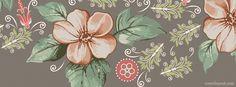 Vintage Floral Facebook Cover
