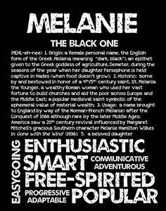 MELANIE Personalized Name Print / Typography Print by OhBabyNames