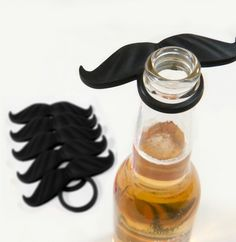 Beer bottle mustache. That would make a funny groomsman picture