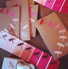 DIY: Use some old paint sample cards and use them to make a cool thank you/ bday/ mother day/ anything card and your good to go :)