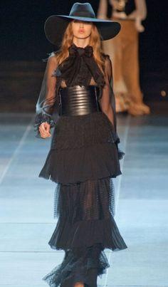 Hedi Slimane for YSL with Lindsay Wixon.