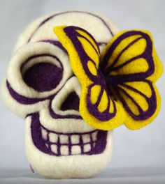 Felted Chicken - Sugar Skull | Flickr - Photo Sharing!