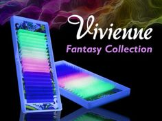 Vivienne Fantasy NEON Colors .15 C CURL fullsize single length tray 20 lines - The Lash Shop @ StellaLash