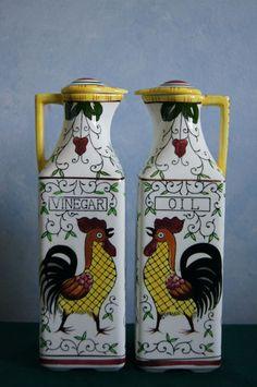 Rooster Vinegar and Oil Set
