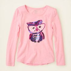 girl - long sleeve tops - shine graphic tee | Children's Clothing | Kids Clothes | The Children's Place
