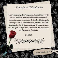 Oração Bahá'í - Remoção de dificuldades - www.bahai.org.br