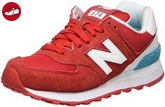 New Balance Damen 574 Suede Sneakers, Rot (Red), 37.5 EU (*Partner-Link)