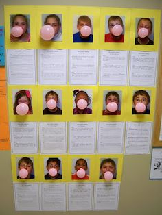 """""""How to Blow a Bubble"""" instructional writing. LOVE their pictures instead of drawn ones! Kindergarten Writing, Teaching Writing, Student Teaching, Writing Activities, Literacy, Procedural Writing, Informational Writing, Informative Writing, Sentence Writing"""