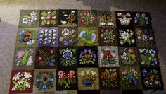 susis quilts: the wool quilt,four rows finished