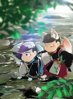 I wanna keep u tho.Awwww Yokai Kara and Oso Osomatsu San Doujinshi, Mundo Geek, Ichimatsu, Kara, Chibi, Brother, Geek Stuff, Fandoms, Fan Art