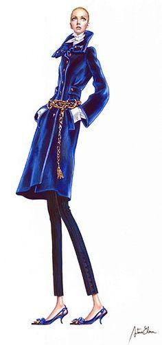 Arturo Elena Fashion illustration.