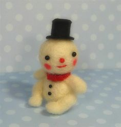 Teeny Snowman ♥ by violetpie, via Flickr