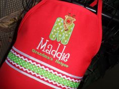 Ruldoph Monogrammed Apron by BabyPaige on Etsy, $16.99