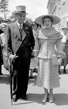 Ascot fashion: Royal Ascot in 1955