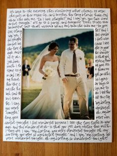 need to do this...Lyrics to our first dance with a picture of us dancing