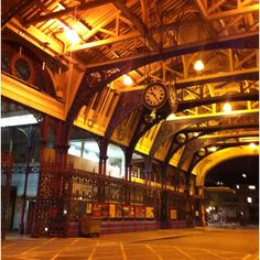 Smithfield Market - looking deceptively quiet in the evening.