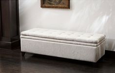 This seems like a good idea - Linen Storage Ottoman