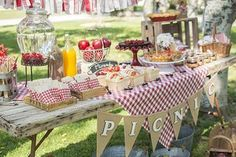 """You know how much we like picnics, so a """"picnic party"""" seemed like a perfect idea to celebrate the second birthday … - Picnic Birthday, 1st Boy Birthday, 1st Birthday Parties, Picnic Party Decorations, Picnic Themed Parties, Bbq Party, Company Picnic, Party Time, Picnic Ideas"""
