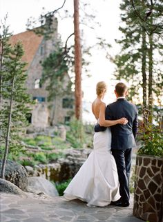 Love this pic with view of Thunderbird Lodge in the distance ~ we ❤ this! moncheribridals.com