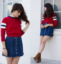 Urban Outfitters Cooperative Jessie Sweater, Ag Jeans Alexa Chung Kety Skirt, Free People  Cecile Boot