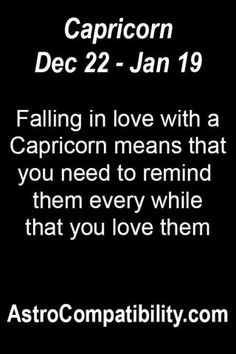 Falling in love with a Capricorn.... | AstroCompatibility.com