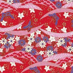 Traditional Japanese washi paper with beautiful pattern. Can be used as wrapping paper or origami works. Japanese Paper, Japanese Fabric, Japanese Patterns, Japan Art, Traditional Japanese, Origami Paper, Beautiful Patterns, Journal Ideas, Washi