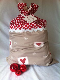 Christmas Santa Sack by MyLittleBelles on Etsy
