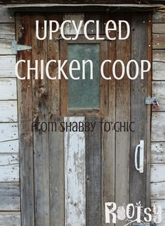 This DIY upcycled chicken coop cost around $100. With recycled items, you really can get into your dream of raising a backyard flock for very little money | http://Rootsy.org