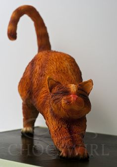 Ginger Cat - by Chocswirl @ CakesDecor.com - cake decorating website