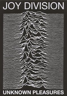 "A fantastic Joy Division poster! The album cover art from their ground-breaking LP Unknown Pleasures! You'll be over""joyed"" by the rest of our excellent selection of Joy Division posters! Need Poster Mounts. Joy Division, Ian Curtis, Rock Indé, Poster Wall, Poster Prints, Poster Layout, The Beatles, Concert Rock, Album Covers"