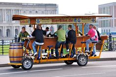Do a group party beer bike tour through town...