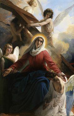 Francesco Hayez, La Vergine addolorata con gli Angeli e i segni della Passione, 1842, Museo Civico, Riva del Garda