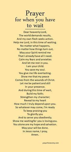 Waiting might be the hardest thing to do. Seek Jesus during this time, and his Spirit will mold your heart. Remember, God is always present and in control. Trust in his timing and his will. Prayer Scriptures, Bible Prayers, Faith Prayer, God Prayer, Prayer Quotes, Spiritual Quotes, Faith Quotes, Bible Quotes, Bible Verses