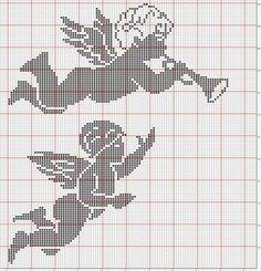 Ангелы / Вышивка / Схемы вышивки крестом