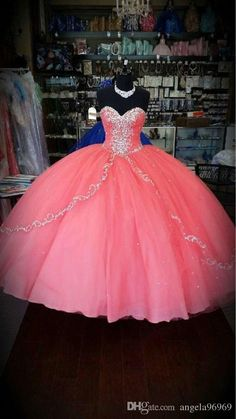 Cheap Pink Beaded Quinceanera Dresses Prom Party Pageant Gowns For 15 Years Ball Gowns Prom, Pageant Gowns, Ball Gown Dresses, Prom Party Dresses, 15 Dresses, Dresses Online, Quinceanera Dresses 2016, Robes Quinceanera, Quinceanera Themes