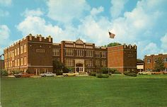 Belleville Township High School - Main Building Buillt 1916 2600 West Main Street Photo circa 1969 Currently Lindenwood University