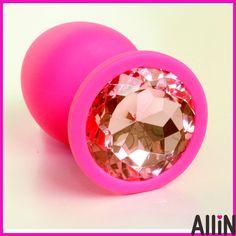 Tamaño S de silicona butt plug anal del grano joya joya de diamantes en el interior juguetes sexuales para adultos