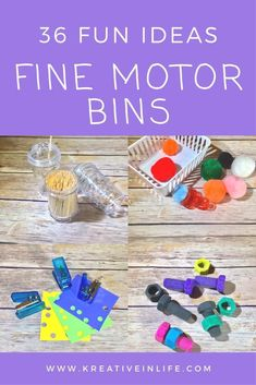 Fine Motor Bins! Thi