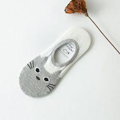 New soft cotton women's socks for girls animal cat prints funny low cut boat socks summer the socks for girls