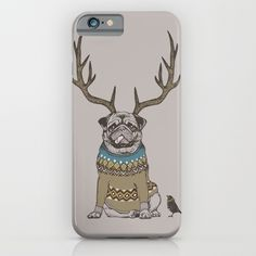Deer Pug iPhone & iPod Case$35.00 https://society6.com/product/deer-pug-rk6_iphone-case?curator=alexxxxx