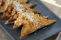 These Thermomix Gyoza are pan-fried to perfection! Crispy on one side, lightly steamed on the other. You won't believe how easy it is!