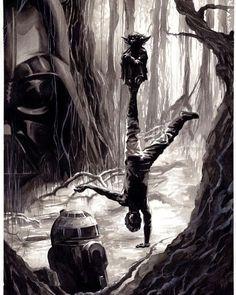 "5,686 Me gusta, 6 comentarios - Star Wars Saga (@starwars.saga) en Instagram: ""Luke's training by J.K. Woodward #starwars #starwarsmovies #lucasfilm #lukeskywalker #yoda…"""