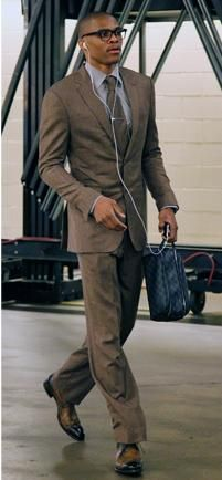 Love my boys... Game Day #Suit Russell Westbrook | looks like someone I know