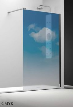 Profiltek Profiltek Dekordusche Belus Duschwand 8mm Nubes