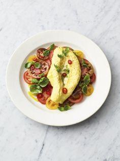 Scrambled egg omelette