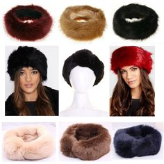 New M/&S Collection Cream Faux Fur Lined Headband Ski Hat Ear Warmers