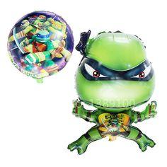 10 stks/partij Teenage Mutant Ninja Turtles folie ballonnen birthday kids classic balons dier globos infantiles speelgoed