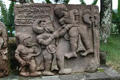 Stone Carvings at Candi Sukuh Temple, Indonesia