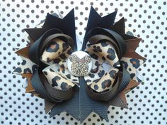 Cheetah/Leopard Print Minnie Mouse Boutique Hairbow -Ready To Ship- Cute As A Button Little Boutique