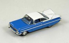 1959 Chevrolet Impala Coupe in Blue and White by Spark - diecast model in 1/43 scale!